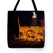 Snow Blower As Float In Shipshewana Light Parade Tote Bag