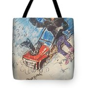 Snow Blowing Tote Bag
