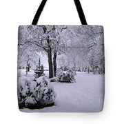 Snow Bush Tote Bag