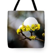 Snow Capped Flower Tote Bag