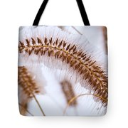 Snow Capped Foxtail Tote Bag