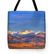 Snow-capped Panorama Of The Rockies Tote Bag