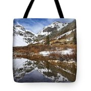 Snow-capped Refections Tote Bag