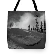 Snow Circle In The Mountains Tote Bag