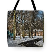 Snow Cleared Road Tote Bag