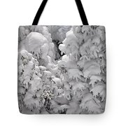 Snow Coat Tote Bag