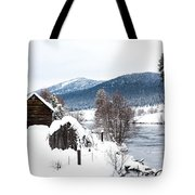 Snow Covered Cabin Tote Bag