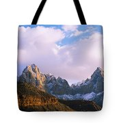 Snow Covered Mountain Range, The Tote Bag