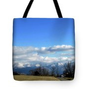 Snow Covered Mountains Tote Bag