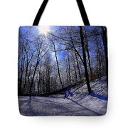 Snow Covered Path Tote Bag