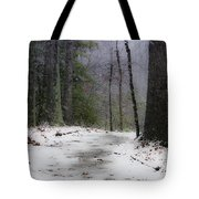 Snow Covered Path Quantico National Cemetery Tote Bag