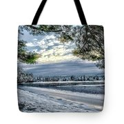 Snow Covered Pines Tote Bag