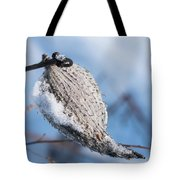 Snow-covered Pod Tote Bag