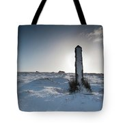 Snow Covered Post II Tote Bag