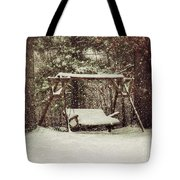Snow Covered Swing Tote Bag