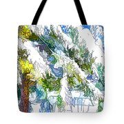 Snow-covered Tree Branch  3 Tote Bag