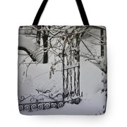Snow Covered Wisteria Arch Tote Bag