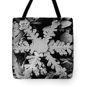 Snow Crystal Tote Bag