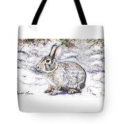 Snow Day Bunny Tote Bag