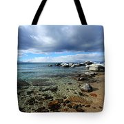 Snow Day On Her Shore Tote Bag
