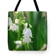 Snow Drop Lily Tote Bag