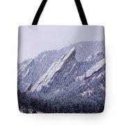 Snow Dusted Flatirons Boulder Colorado Tote Bag