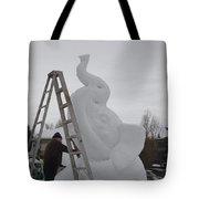 Snow Elephant Tote Bag