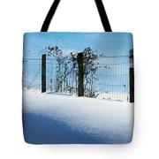 Snow Fence Tote Bag by Joyce Kimble Smith
