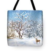 Snow Flurry Tote Bag by Arline Wagner