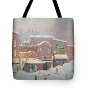 Snow For The Holidays Painting Tote Bag