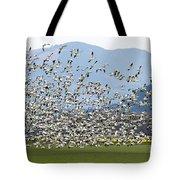 Snow Geese Exodus Tote Bag