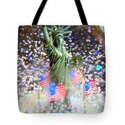 Snow Globe Liberty Tote Bag