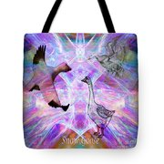 Snow Goose Moon Tote Bag