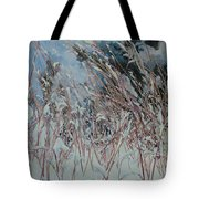 Snow Grass Happiness Tote Bag
