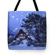 Snow, Historic Villages Of Shirakawa, Japan Tote Bag