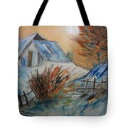 Snow House Tote Bag