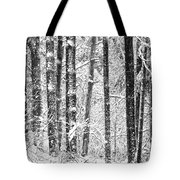 Snow In A Forest Tote Bag