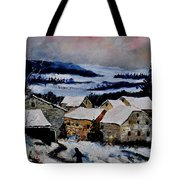 Snow In Ardennes 79 Tote Bag