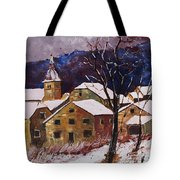 Snow In Chassepierre  Tote Bag