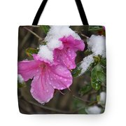 Snow In Houston Tote Bag