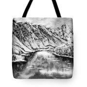 Snow In November Black And White Tote Bag