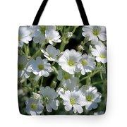 Snow In Summer Flowers Tote Bag