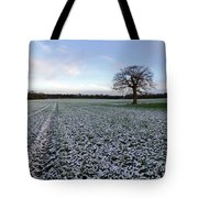 Snow In Surrey Countryside Tote Bag