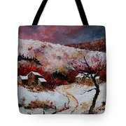 Snow In The Ardennes 78 Tote Bag by Pol Ledent