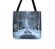 Snow In The Avenue Tote Bag