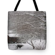 Snow In The Country. Tote Bag