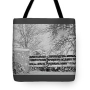 Snow In The Country Tote Bag