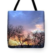 Snow In The Distance Tote Bag