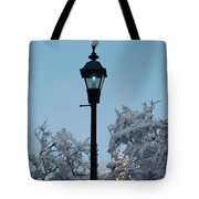 Snow In The Low-country Tote Bag