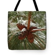 Snow In The Pine Tote Bag